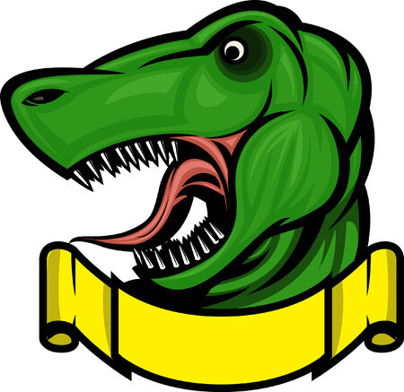 Roaring T-rex mascot! Separated into layers for easy editing.  イラスト・ベクター素材