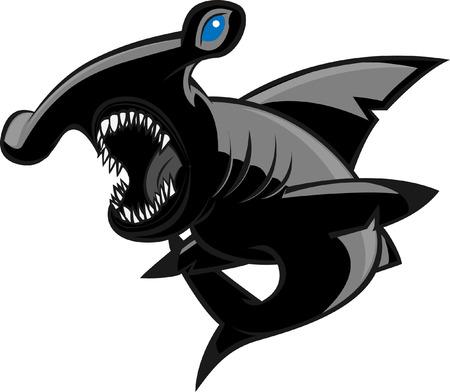 pez martillo: tibur�n martillo sobre el ataque!