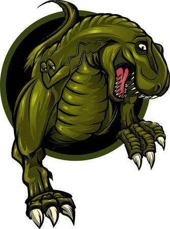 fleischfressende pflanze: Roaring T-rex-Maskottchen! Aufgeteilt in Schichten f�r die einfache Bearbeitung. Illustration
