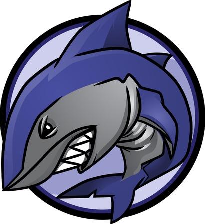 squalo bianco: Logo di squalo. Logo grande squalo bianco!  Immagine viene separato in strati per facile modifica.