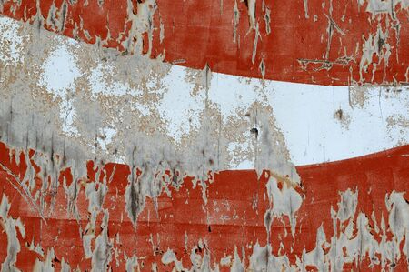 defaced: Old and Peeling Paint On Sign