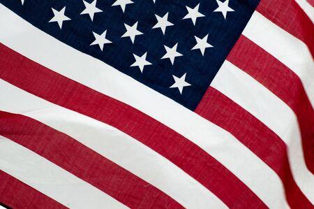 アメリカの国旗のクローズ アップ