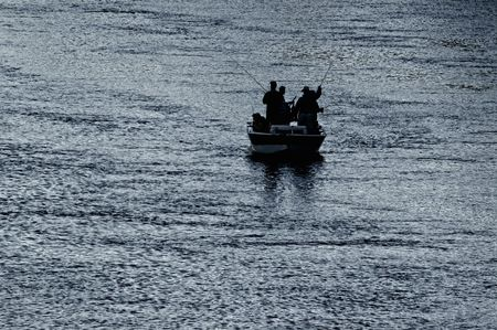 Men Fishing From Boat On American River In Northern California NMR Stock Photo - 3207709