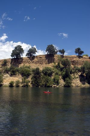 boater: Kayaking On American River