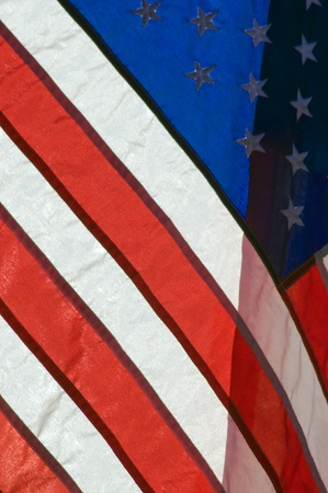 American Flag Backlighted By Afternoon Sun Stock Photo - 12286156
