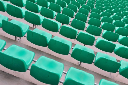 Chairs in the sports stadium photo