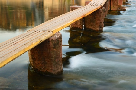 Wooden bridge on the Tuo river in Fenghuang county, Hunan province, China Stock Photo - 8595273
