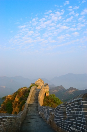 Great Wall of China built in the Ming Dynasty in Jinshanling, Hebei province, China photo