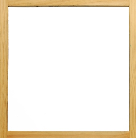 Wooden frame white board with pure isolated white area