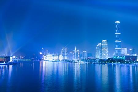 guangzhou: Guangzhou, China - November. 10 2010: Night scene of Guangzhou Pearl river on Nov 10, 2010 in Guangzhou, China.