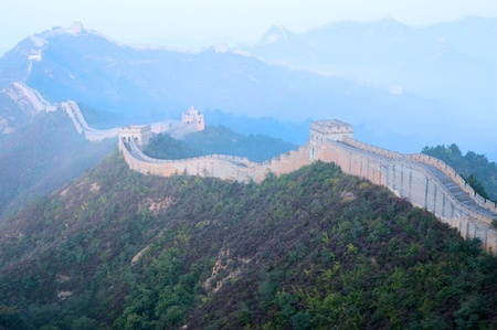 Great Wall of China in inshanling, Hebei Province photo