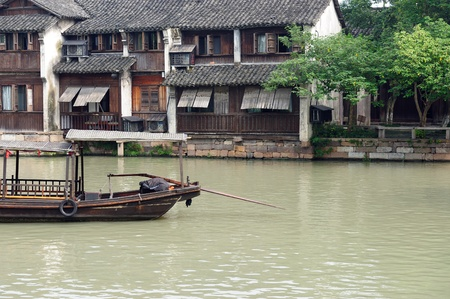 Ancient village building in Wuzhen town, Zhejiang province, China photo