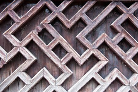 panes: Close-up view of Chinese traditional style wooden window Stock Photo