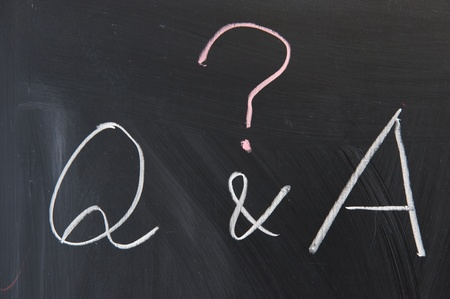 Chalkboard writing - Question and Answer photo