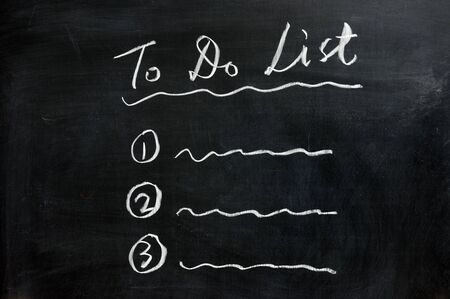 todo: Chalkboard drawing - concept of To Do List Stock Photo