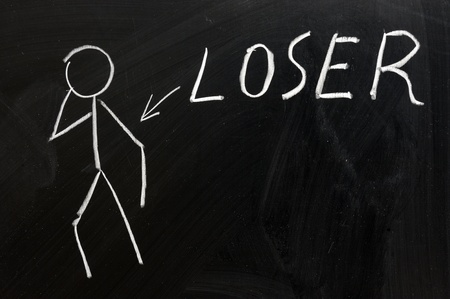 losers: Chalk drawing - concept of Loser