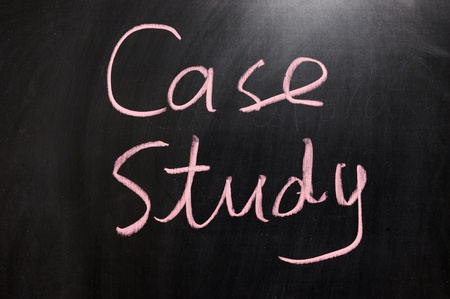 case studies: Chalk drawing - Case study Stock Photo