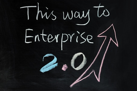Chalk drawing - This way to Enterprise 2.0 photo
