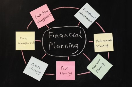 Conceptional drawing of Financial planning photo