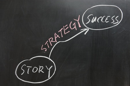 Chalkboard drawing - From Story to Success Stock Photo - 11873421