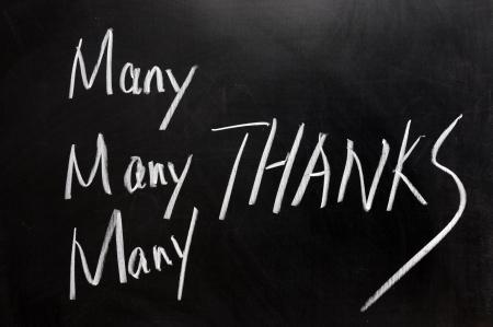 dank u: Krijttekening - Hartelijk dank
