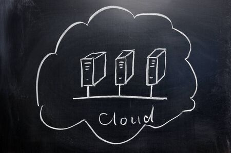 chalkboard image  of cloud computing concept Stock Photo - 11873469