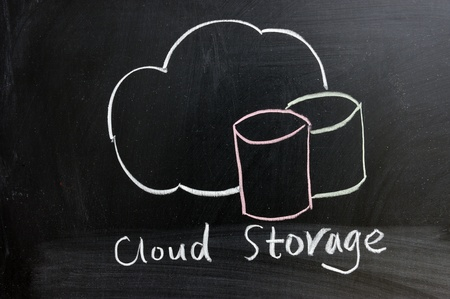 Chalk drawing - Cloud storage service Stock Photo - 11873482