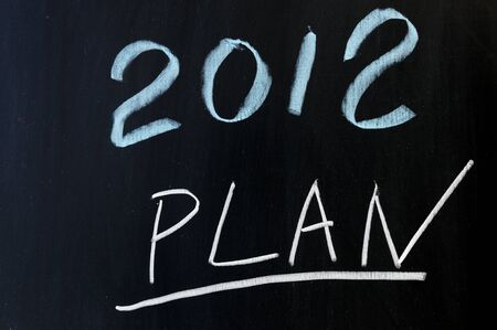 Chalkboard drawing - 2012 new year plans photo