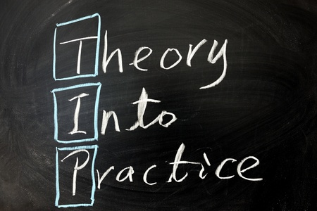 letter of application: Chalkboard writing -Theory into practice