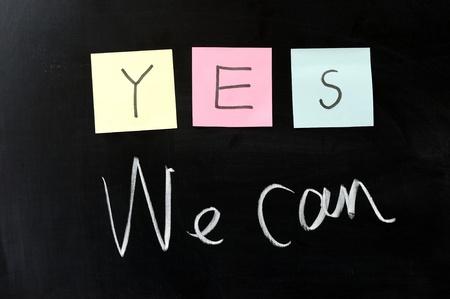 optimismo: Dibujo de tiza - ¡Sí se puede