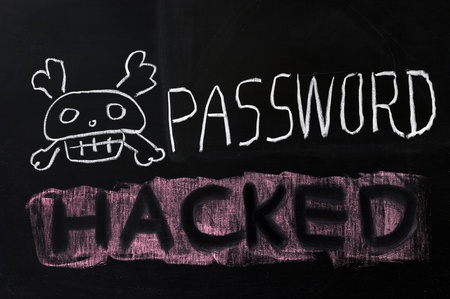 decryption: Chalk drawing - Password hacked