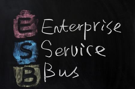 Chalk drawing - ESB, Enterprise Service Bus Stock Photo - 11931410