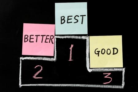 good better best: Chalk drawing - Good, better or best Stock Photo
