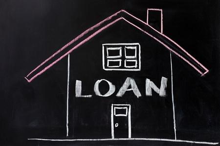 home loans: Chalk disegno concettuale - mutuo