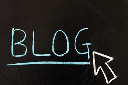 """dessin craie: Dessin � la craie - """"Blog"""" �crit sur le tableau"""