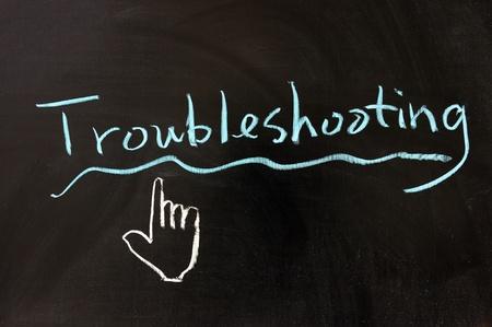 solucion de problemas: Dibujo de tiza - Solución de problemas de la palabra escrita en la pizarra
