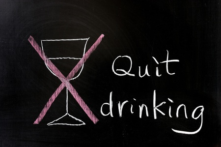 Chalk drawing - Quit drinking Stock Photo - 12052520