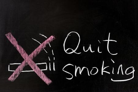 quitting: Chalk drawing - Quit smoking