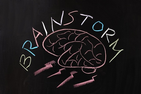 Chalk drawing - Brainstorm concept Stock Photo - 12052509