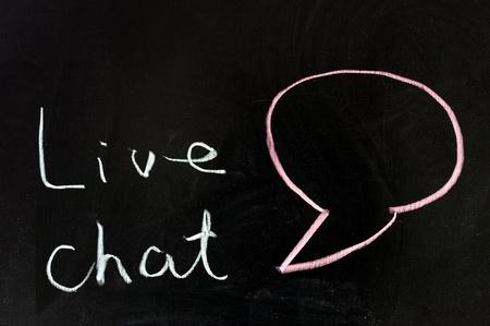 Chalk drawing - Live chat photo