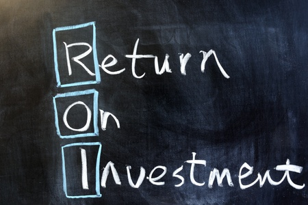 investing: Chalk drawing - Return on investment