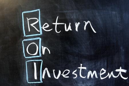 Dessin à la craie - Retour sur investissement