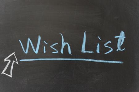 dessin craie: Dessin � la craie - la liste de souhaits Banque d'images