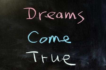 come: Chalk drawing - Dreams come true