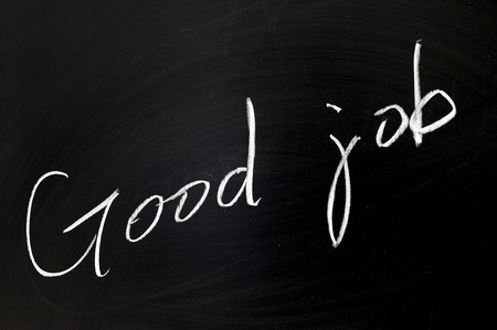 Conceptional chalk drawing - Good job Stock Photo - 12701621