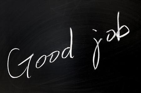 dessin craie: Dessin � la craie conceptuelle - Good job Banque d'images