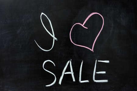 dessin craie: Dessin � la craie - J'aime la vente