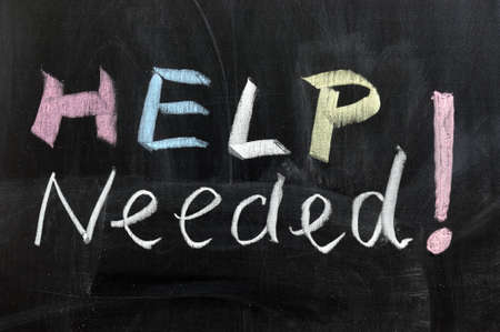 wanted: Conceptional chalk drawing - Help needed Stock Photo