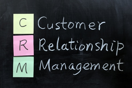 Chalk drawing - CRM, Customer Relationship Management photo