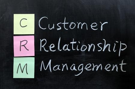 dessin craie: Dessin � la craie - CRM, Customer Relationship Management Banque d'images